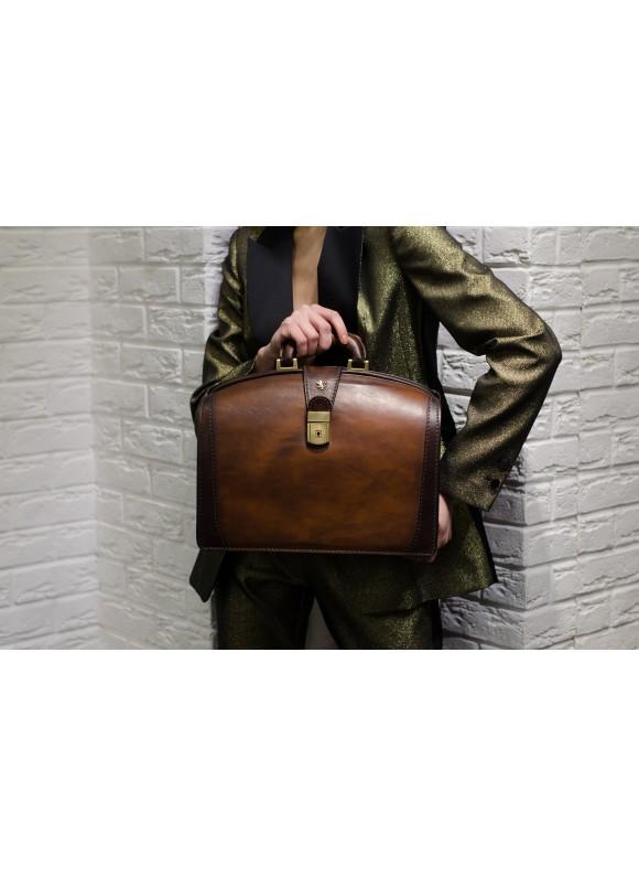 Pratesi Brunelleschi Medium Briefcase in cow leather - Bruce Brown