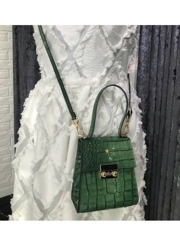 Pratesi Artemisia Piccola Handbag in cow leather - King Emerald