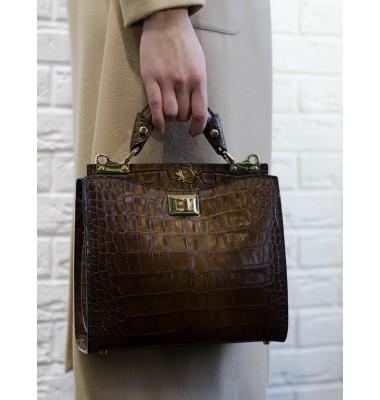 'Pratesi Anna Maria Luisa de'' Medici Small King Lady Bag in cow leather - King Brown'