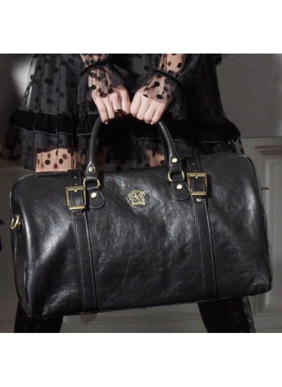 Pratesi Travel bag Perito Moreno in cow leather - Bruce Black
