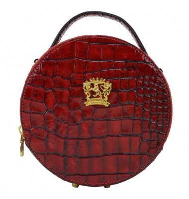 Pratesi Handbag Troghi King in cow leather - KING Cherry