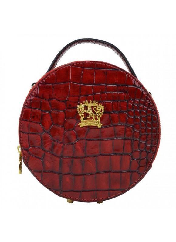 Pratesi Handbag Troghi King in cow leather - KING Cherry