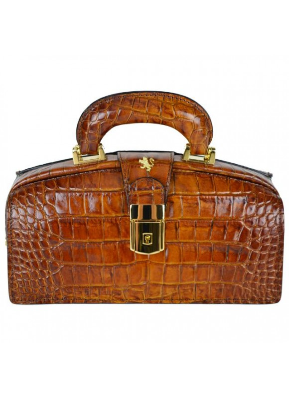 Pratesi Lady Brunelleschi King Woman Bag in cow leather - King Brown