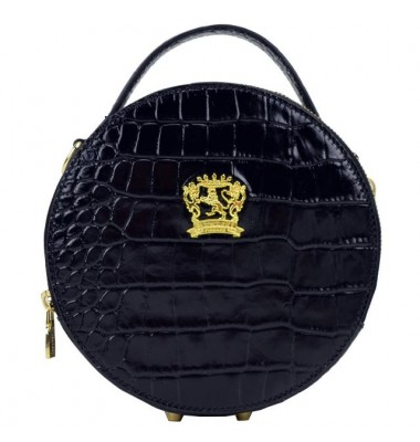 Pratesi Handbag Troghi King in cow leather - King Black