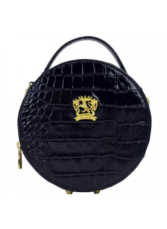 Pratesi Handbag Troghi King in cow leather - King Black