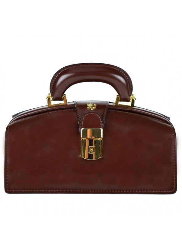 Pratesi Lady Brunelleschi Bag in cow leather - Radica Coffee