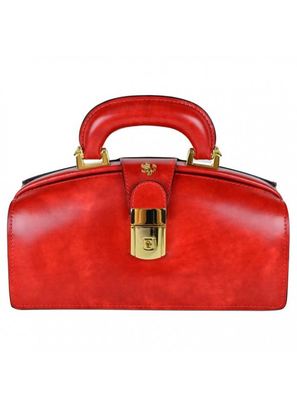 Pratesi Lady Brunelleschi Bag in cow leather - Radica Cherry