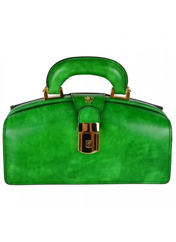 Pratesi Lady Brunelleschi Bag in cow leather - Radica Emerald