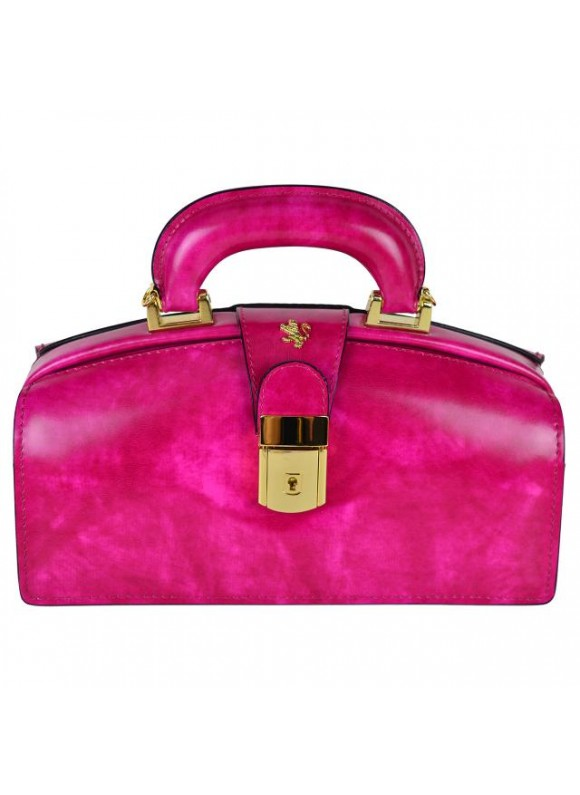 Pratesi Lady Brunelleschi Bag in cow leather - Radica Fuchsia
