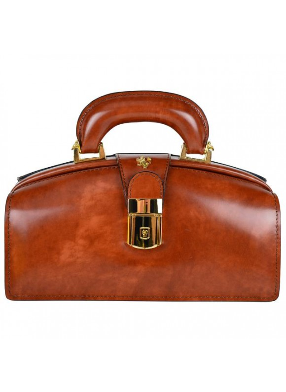 Pratesi Lady Brunelleschi Bag in cow leather - Radica Brown