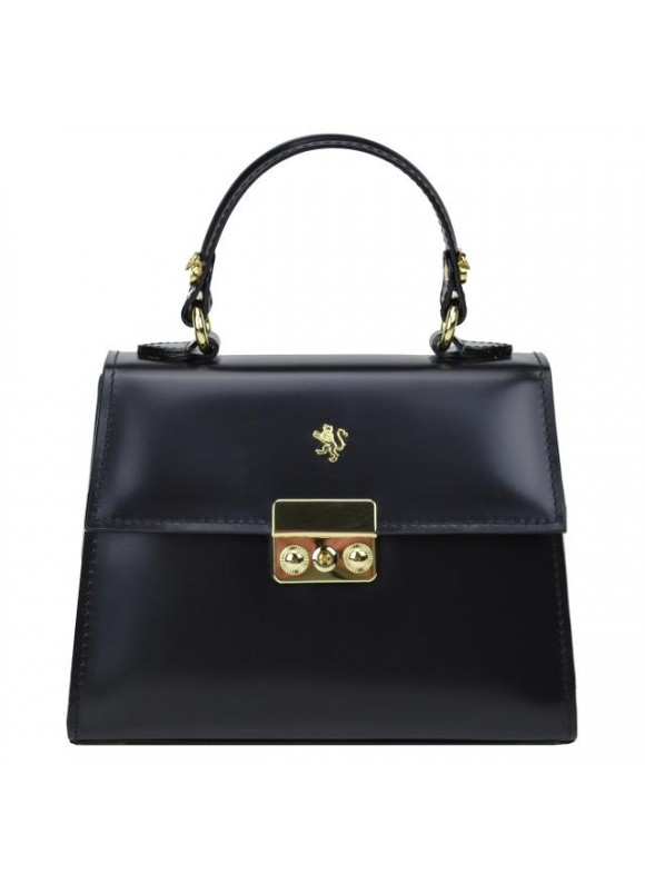 Pratesi Artemisia Lady Bag in cow leather - Radica Nero