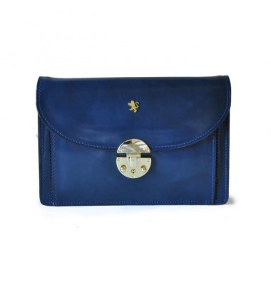 'Pratesi Tullia d''Aragona Santa Croce Lady Bag in real leather - Santa Croce Blue'