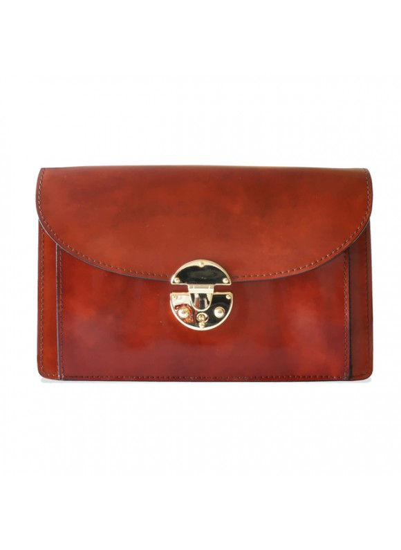 'Pratesi Tullia d''Aragona Santa Croce Lady Bag in real leather - Santa Croce Brown'