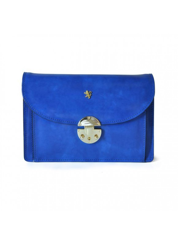 'Pratesi Tullia d''Aragona Santa Croce Lady Bag in real leather - Santa Croce Electric Blue'