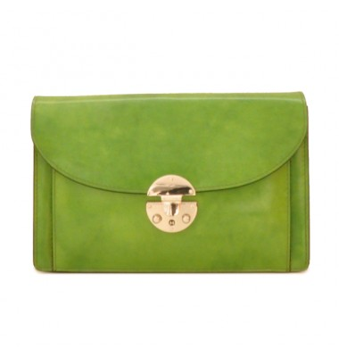 'Pratesi Tullia d''Aragona Santa Croce Lady Bag in real leather - Santa Croce Green'