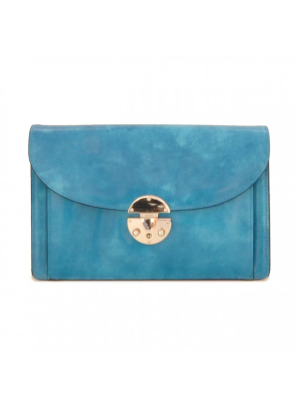'Pratesi Tullia d''Aragona Santa Croce Lady Bag in real leather - Santa Croce Sky-Blue'