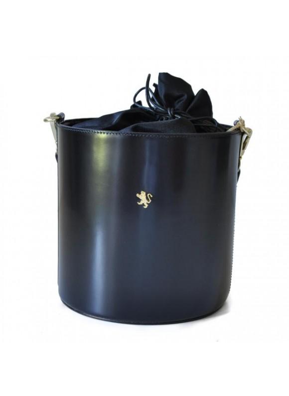 Pratesi Cross-Body Bag Secchiello in cow leather - Radica Black