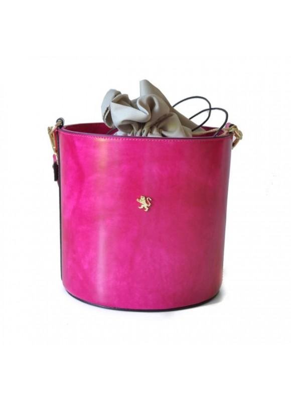 Pratesi Cross-Body Bag Secchiello in cow leather - Radica Fuchsia