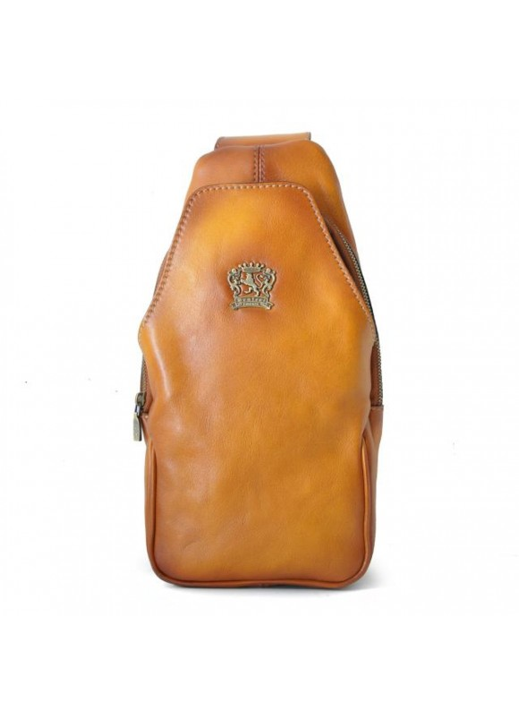 'Pratesi Backpack San Quirico d''Orcia in cow leather - Bruce Cognac'