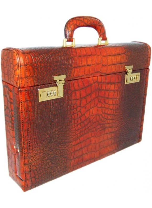 Pratesi Ghirlandaio King Attach Case in cow leather - King Cognac