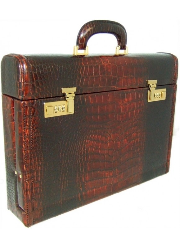 Pratesi Ghirlandaio King Attach Case in cow leather - King Brown