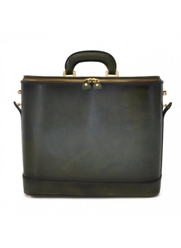 Pratesi Raffaello Santa Croce PC Bag 17 pollici in real leather - Santa Croce Green