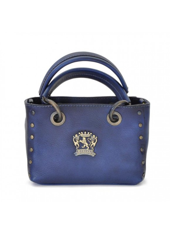 Pratesi Bagnone Lady Bag in cow leather - Bruce Blue