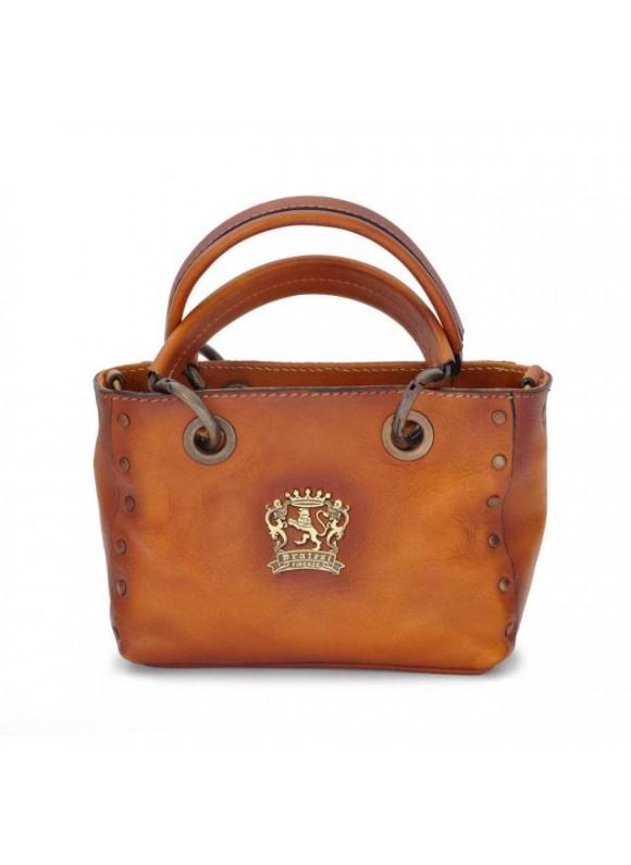Pratesi Bagnone Lady Bag in cow leather - Bruce Cognac