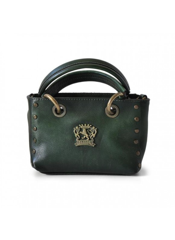 Pratesi Bagnone Lady Bag in cow leather - Bruce Dark Green