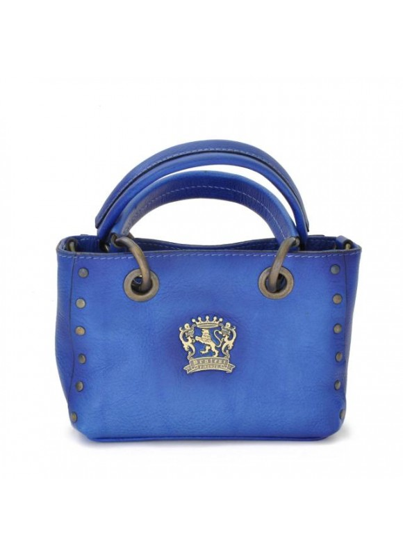 Pratesi Bagnone Lady Bag in cow leather - Bruce Electric Blue
