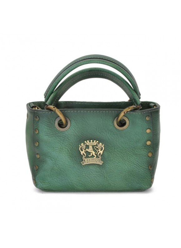 Pratesi Bagnone Lady Bag in cow leather - Bruce Emerald