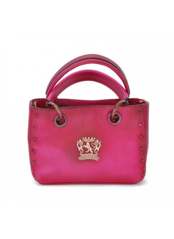 Pratesi Bagnone Lady Bag in cow leather - Bruce Fuchsia