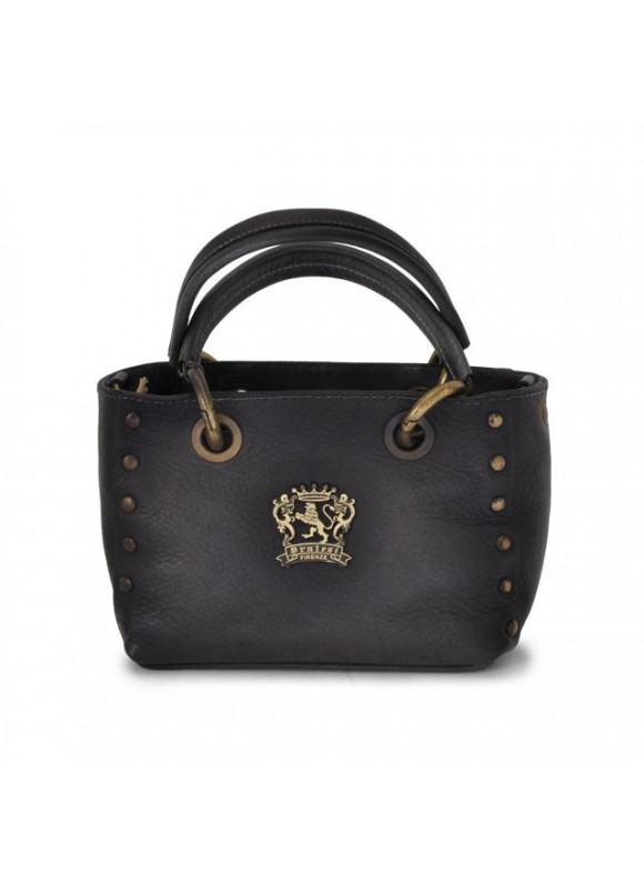 Pratesi Bagnone Lady Bag in cow leather - Bruce Black