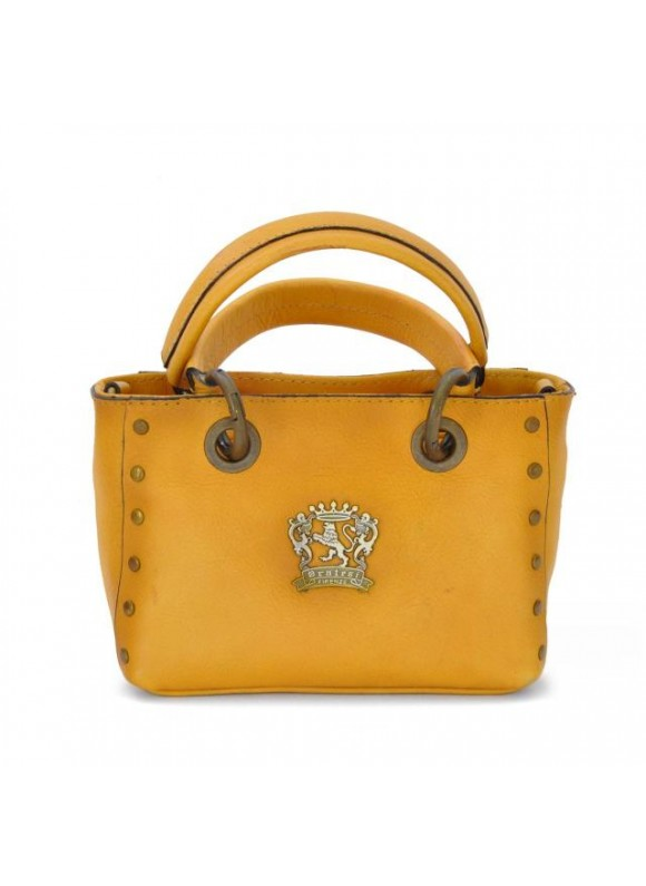Pratesi Bagnone Lady Bag in cow leather - Bruce Mustard