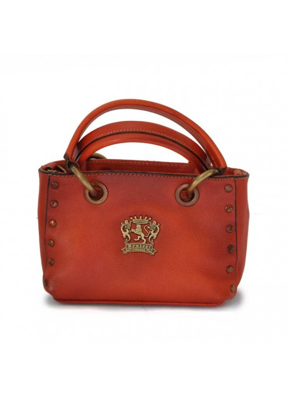 Pratesi Bagnone Lady Bag in cow leather - Radica Orange
