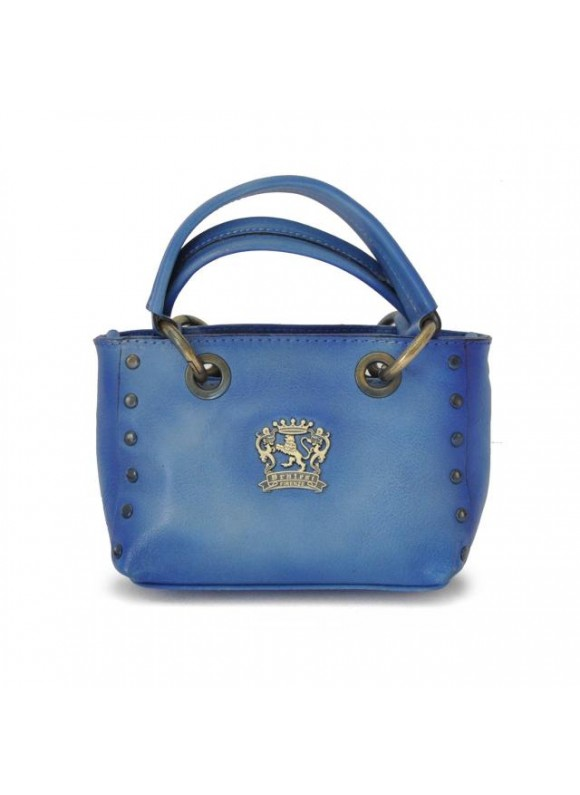 Pratesi Bagnone Lady Bag in cow leather - Radica Sky Blue