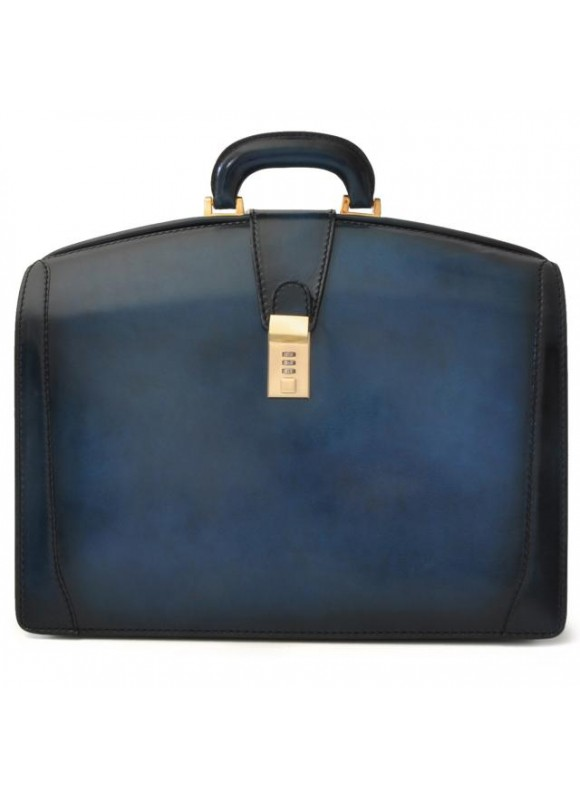 Pratesi Brunelleschi Santa Croce PC Case in real leather - Santa Croce Blue