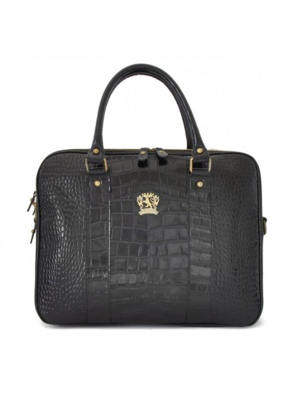 Pratesi Magliano King Briefcase in cow leather - King Black
