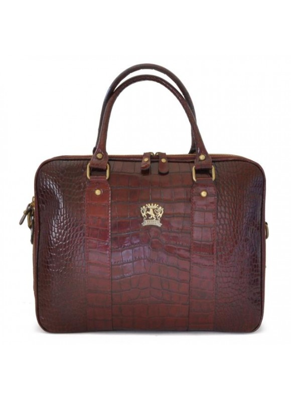 Pratesi Magliano King Briefcase in cow leather - King Brown