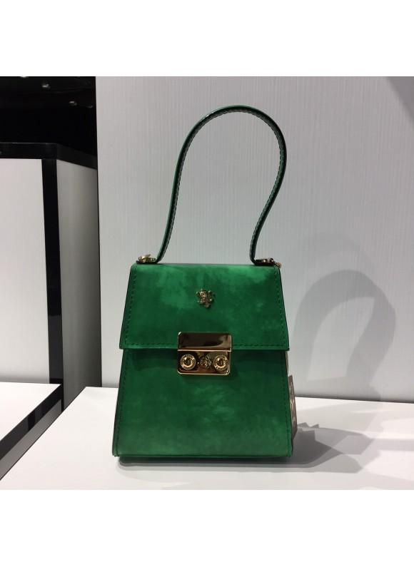 Pratesi Artemisia Piccola Handbag in cow leather - Radica Emerald