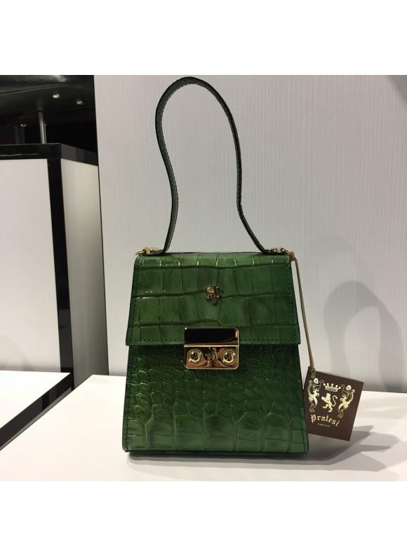 Pratesi Artemisia Piccola Handbag in cow leather - King Emerald