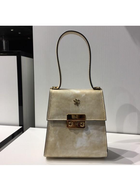 Pratesi Artemisia Piccola Handbag in cow leather - Radica Panna