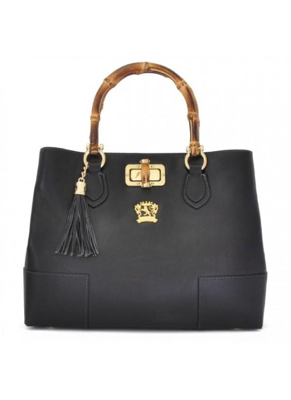 Pratesi Sarteano Shoulder Bag in cow leather - Bruce Black