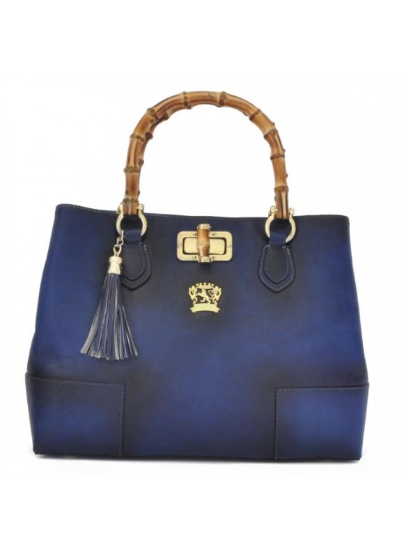 Pratesi Sarteano Shoulder Bag in cow leather - Bruce Blu