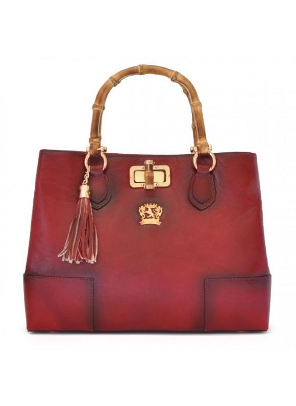 Pratesi Sarteano Shoulder Bag in cow leather - Bruce Cherry