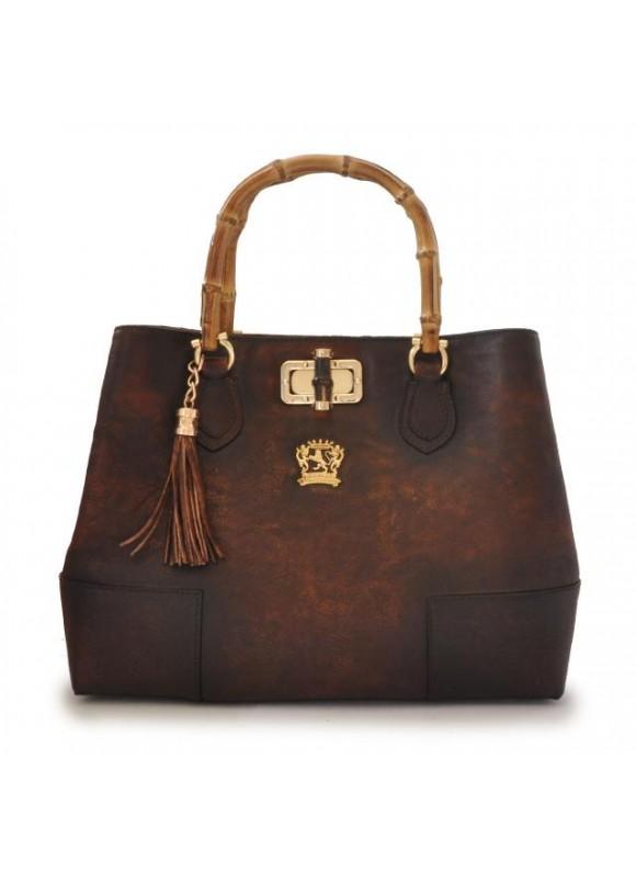 Pratesi Sarteano Shoulder Bag in cow leather - Bruce Coffee