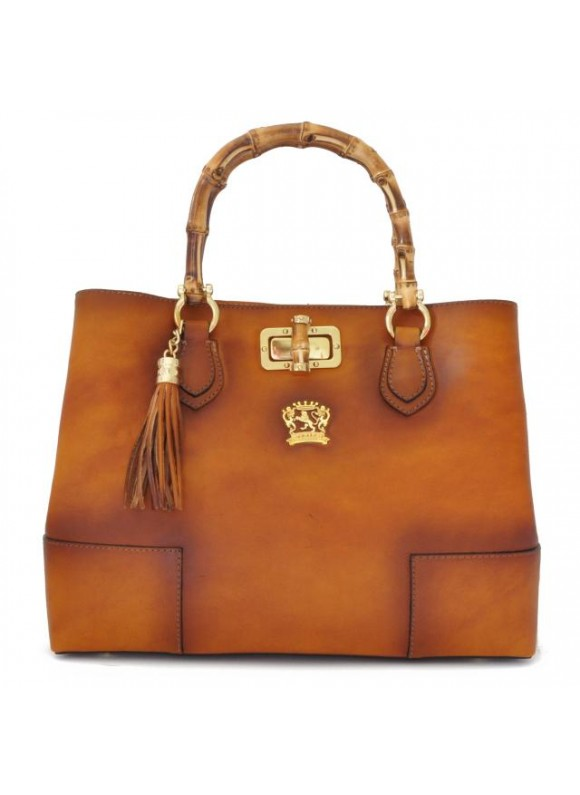 Pratesi Sarteano Shoulder Bag in cow leather - Bruce Cognac