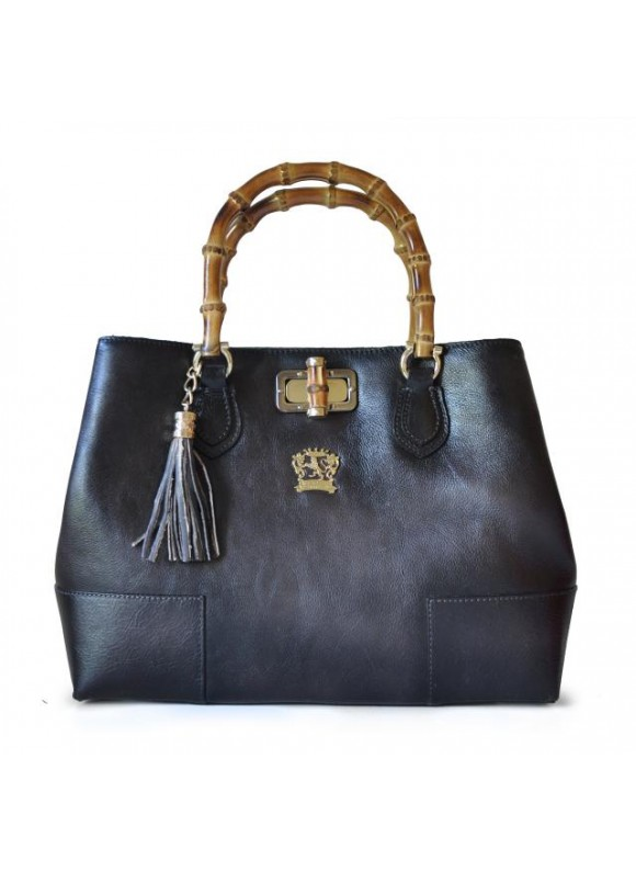 Pratesi Sarteano Shoulder Bag in cow leather - Bruce Grey