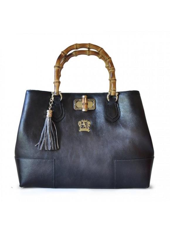 Pratesi Sarteano Shoulder Bag in cow leather - Bruce Grey
