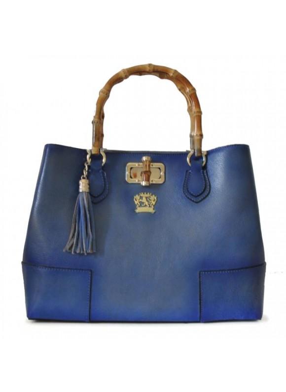 Pratesi Sarteano Shoulder Bag in cow leather - Bruce Sky Blue